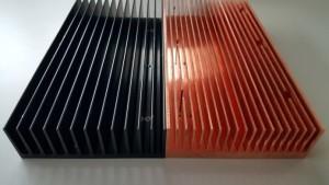 koperen en aluminium koellichaam